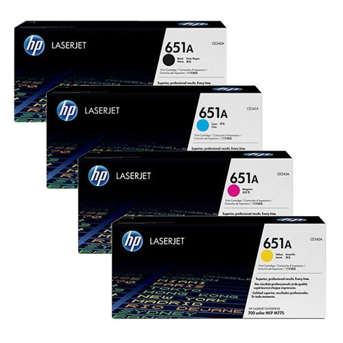 HP 651A Toner Cartridge Set