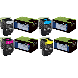 Lexmark 701H Toner Cartridge Set
