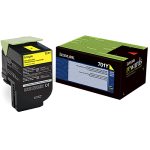 Lexmark 70C10Y0 Yellow Toner Cartridge