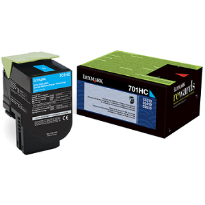 Lexmark 70C1HC0 Cyan Toner Cartridge