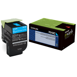 Lexmark 70C1XC0 Cyan Toner Cartridge