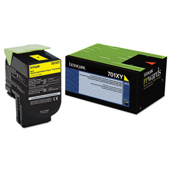 Lexmark 70C1XY0 Yellow Toner Cartridge