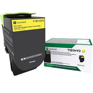 Lexmark 71B1HY0 Yellow Toner Cartridge