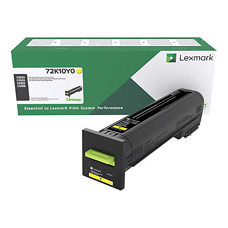 Lexmark 72K10Y0 Yellow Toner Cartridge