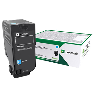 Lexmark 74C1HC0 Cyan Toner Cartridge