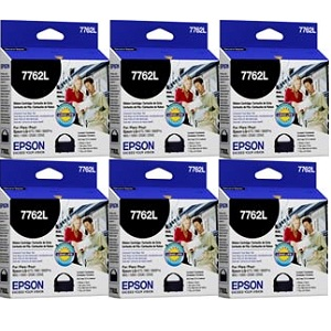 Epson 7762L Black Printer Ribbon 6-Pack