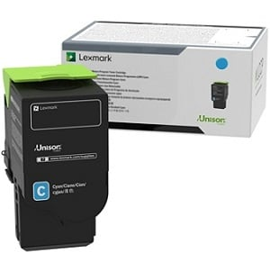 Lexmark 78C0U20 Cyan Toner Cartridge