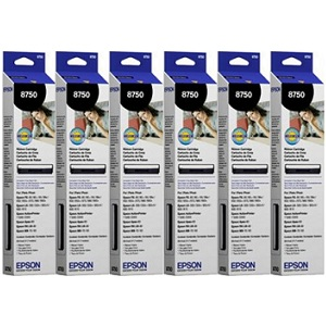 Epson 8750 Black Ribbon Cartridge 6-Pack