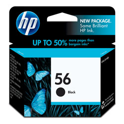 HP C6656AN Black Ink Cartridge