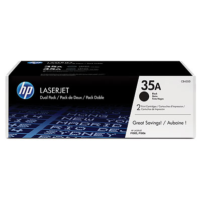 HP CB435D Black Toner Cartridge Dual Pack