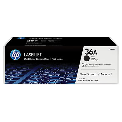 HP CB436D Black Toner Cartridge Dual Pack