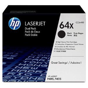 HP CC364XD Black Cartridge Dual Pack