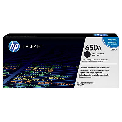 HP CE270A Black Toner Cartridge