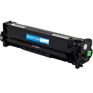 Premium Compatible CE411A Cyan Toner Cartridge
