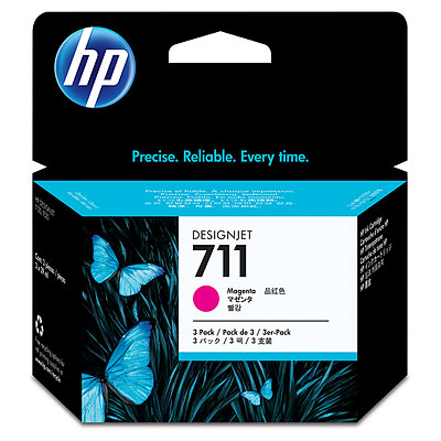 HP CZ135A Magenta Ink Cartridge 3-pack