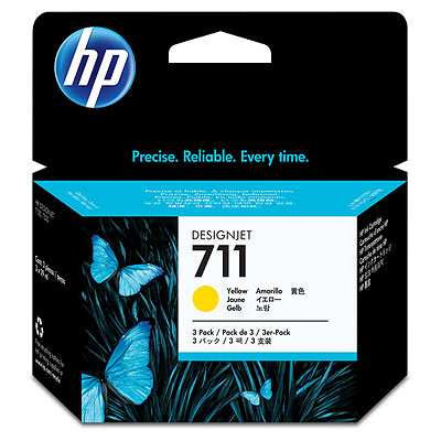 HP CZ136A Yellow Ink Cartridge 3-pack