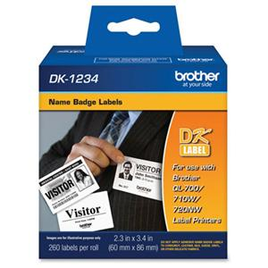 Brother DK1234 Name Badge Labels