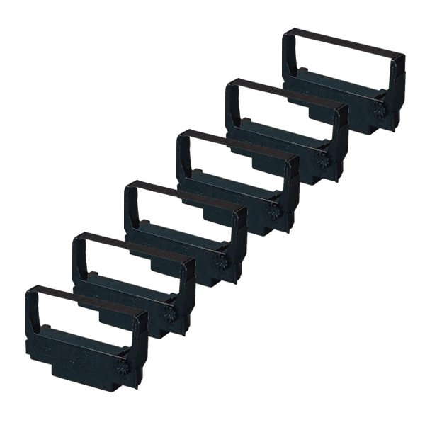 Compatible Epson ERC-38 Black Ribbon Cartridge 6-Pack