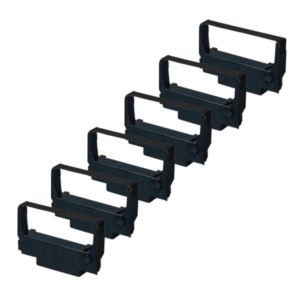 Compatible Epson ERC-38 Black Red Ribbon Cartridge 6-Pack