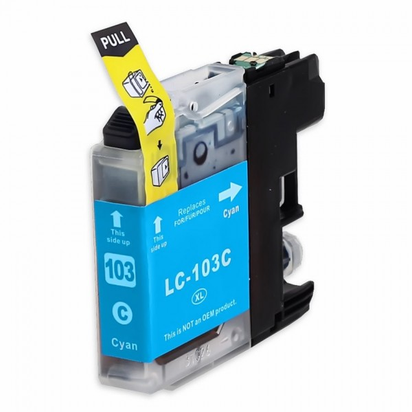 Compatible Brother LC103C Cyan Ink Cartridge