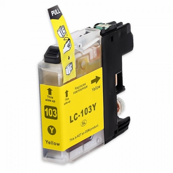 Compatible Brother LC103Y Yellow Ink Cartridge