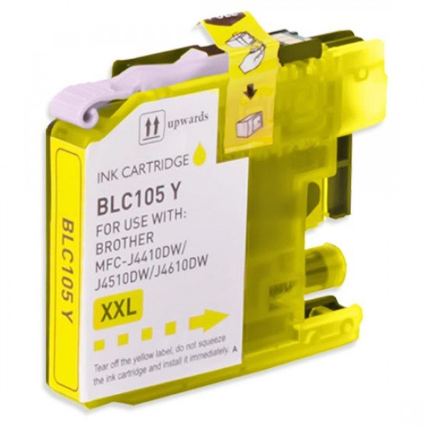 Compatible Brother LC105Y Yellow Ink Cartridge