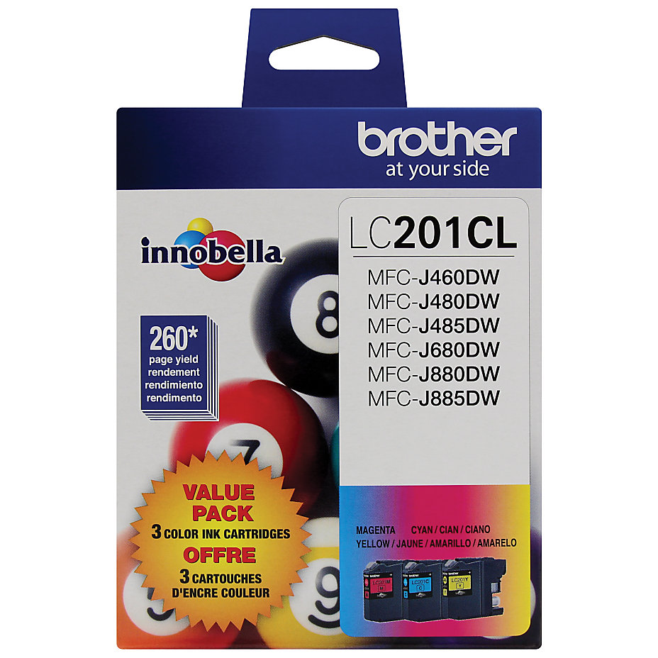 Brother LC201CL Color Ink Value Pack