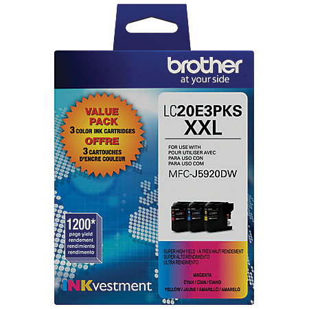 Brother LC20E3PKS Value Pack