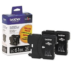 Brother LC612PKS Black Ink Cartridge Twin Pack