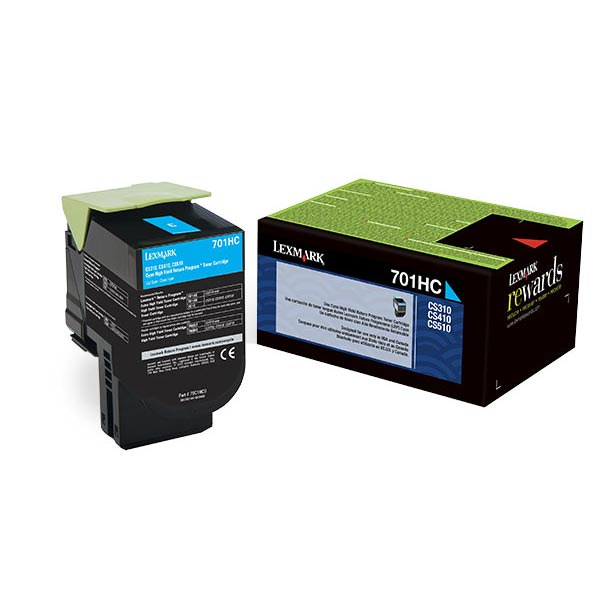Lexmark 70C0HCG Cyan Toner Cartridge for US Government