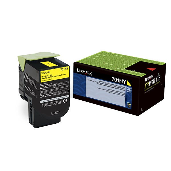 Lexmark 70C0HYG Yellow Toner Cartridge for US Government