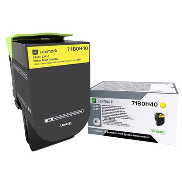 Lexmark 71B0H40 Yellow Toner Cartridge