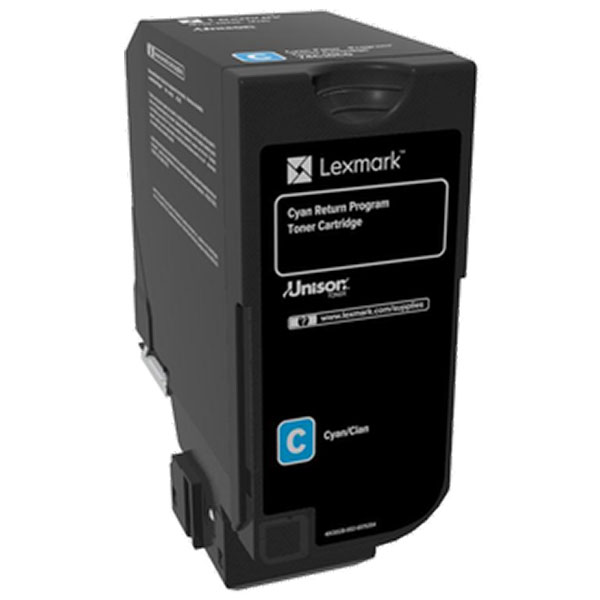 Lexmark 74C00CG Cyan Toner Cartridge for US Government