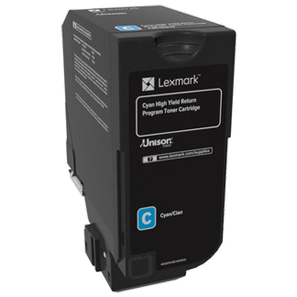 Lexmark 74C0HCG Cyan Toner Cartridge for US Government