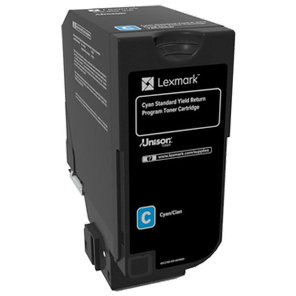Lexmark 74C0SCG Cyan Toner Cartridge for US Government