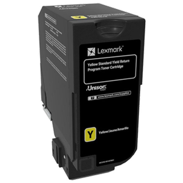 Lexmark 74C0SYG Yellow Toner Cartridge for US Government