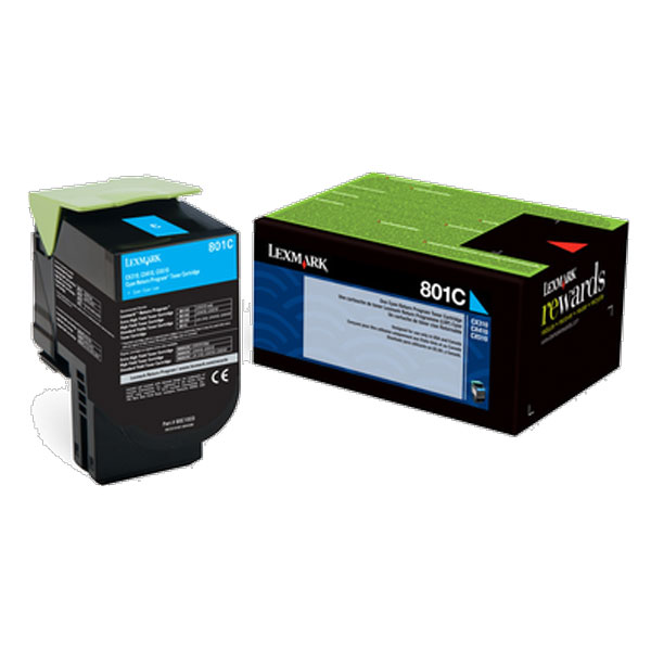 Lexmark 80C00CG Cyan Toner Cartridge for US Government