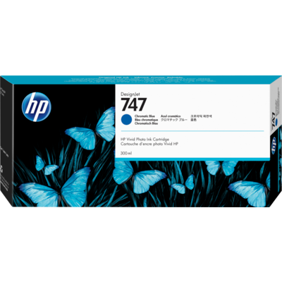 HP P2V85A Chromatic Blue Ink Cartridge