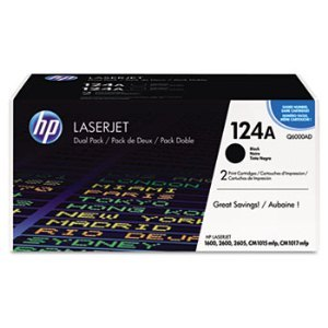 HP Q6000AD Black Toner Cartridge Dual Pack