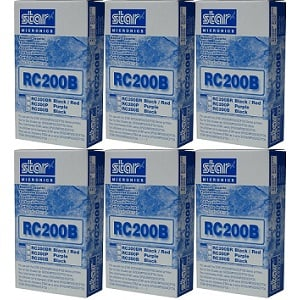 Star RC200B Black Ribbon Cartridges