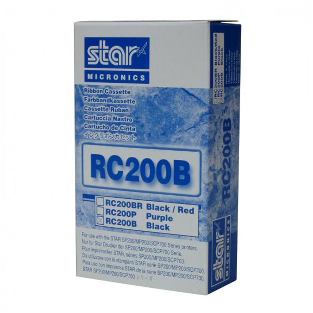 Star RC200B Black Ribbon Cartridge