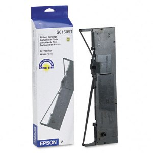 Epson S015091 Black Ribbon Cartridge