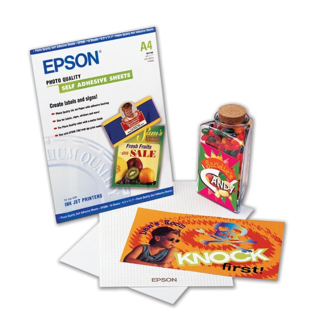 Epson S041106 Photo Quality Self Adhesive Sheets