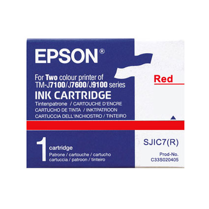 Epson SJIC7 Red Ink Cartridge