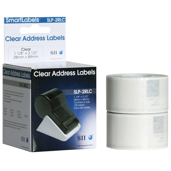 Seiko SLP-2RLC Clear Address Labels