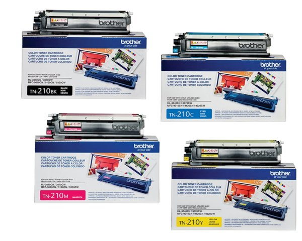 Brother TN210 Toner Cartridge Set