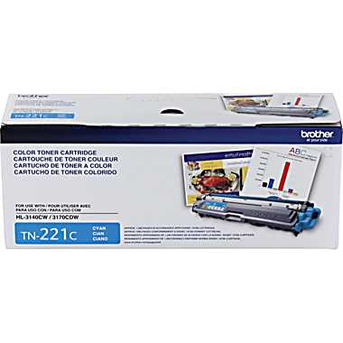 Brother TN221C Cyan Toner Cartridge