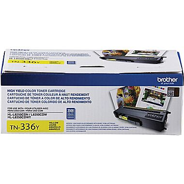 Brother TN336Y Yellow Toner Cartridge