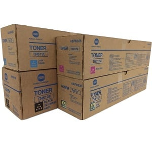 Konica Minolta TN612 Toner Cartridge Set