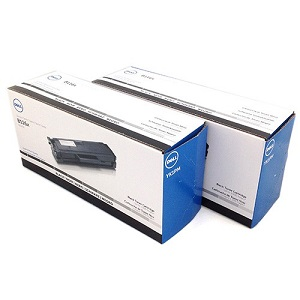 Dell YK1PM Black Toner Cartridge Dual Pack